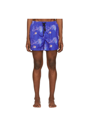 Everest Isles Blue Sea Trash 13' Swimmer Shorts