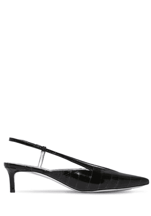 45mm Eel & Patent Leather Pumps