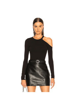 Enza Costa for FWRD Exposed Shoulder Top in Black