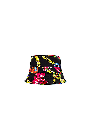 VERSACE Cap in Black,Novelty,Paisley,Red,Yellow