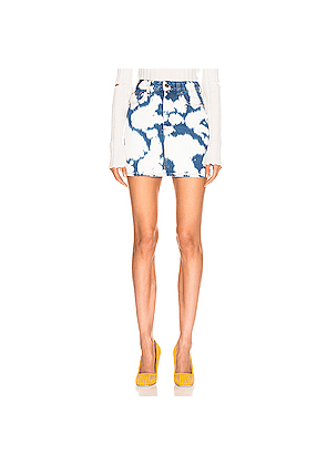 Burberry Denim Mini Skirt in Blue