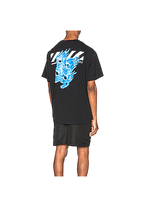 OFF-WHITE Graphic Tee in Black