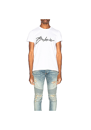 BALMAIN Signature T-Shirt in White