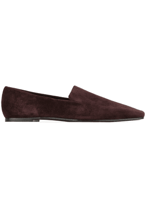 The Row square toe loafers - Brown