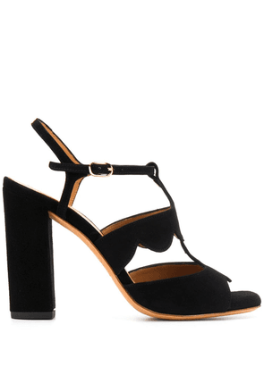 Chie Mihara scalloped heeled sandals - Black