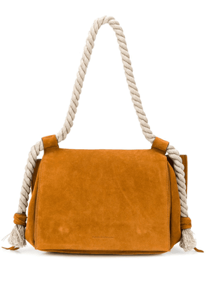 Elena Ghisellini suede rope handle bag - Brown
