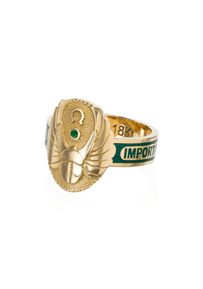 Foundrae Protection diamond and emerald ring - Gold/Green