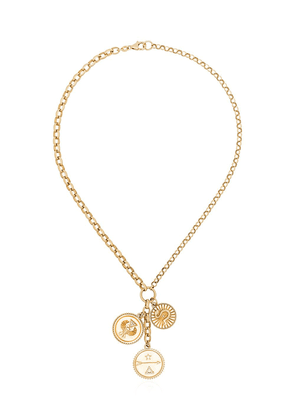 Foundrae Strength, Dreams and Karma charm necklace - Gold