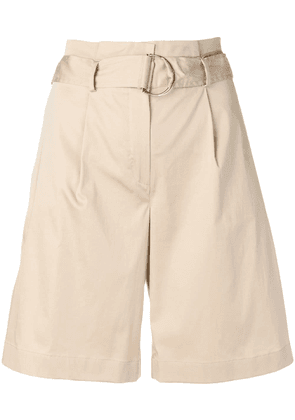 Barba relaxed belted yacht shorts - Neutrals