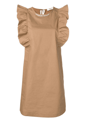 Blugirl flutter sleeve dress - Neutrals