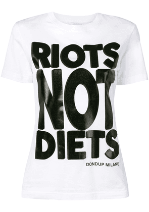 Dondup Riots Not Diets T-shirt - White