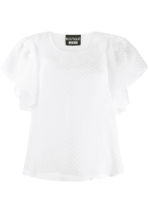 Boutique Moschino ruffled sleeves blouse - White