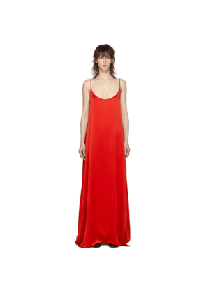 Mansur Gavriel Red Silk Slip Dress
