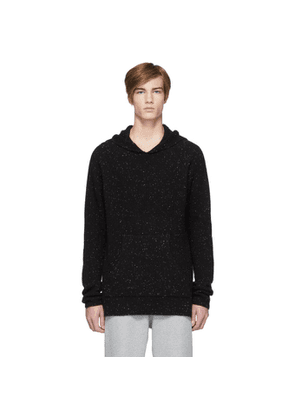 Baja East Black Cashmere Fisherman Hoodie