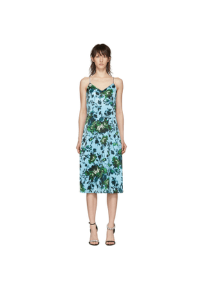 Erdem Blue & Green Fitzroy Rose Vivianne Dress