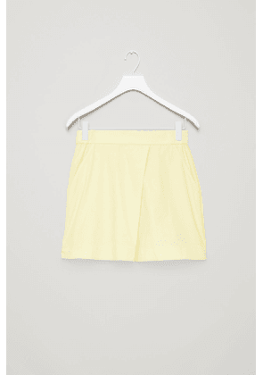 ELASTIC-WAIST COTTON SKIRT