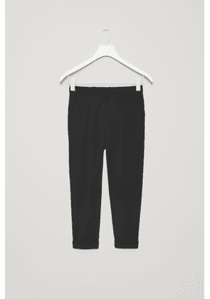 WOOL TROUSERS WITH TURN-UPS