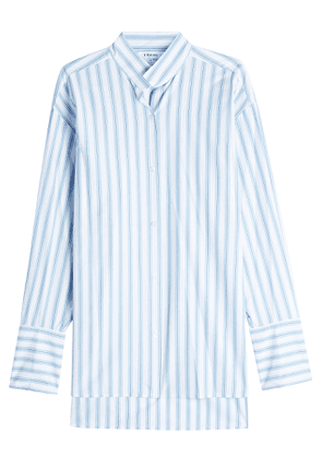 Frame Denim Clean Collared Striped Cotton Shirt