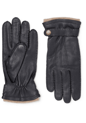Dents - Gloucester Cashmere-lined Full-grain Leather Gloves - Navy