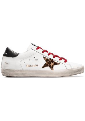 Golden Goose white Superstar leather sneakers
