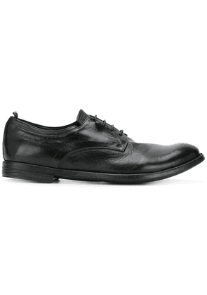 Officine Creative worn-effect lace up shoes - Black