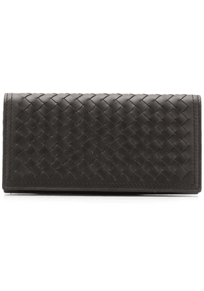 Bottega Veneta Intrecciato foldover wallet - Brown