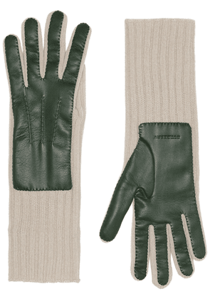 Burberry Cashmere and Lambskin Gloves - Green