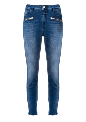 Closed ankle zips skinny jeans - Blue
