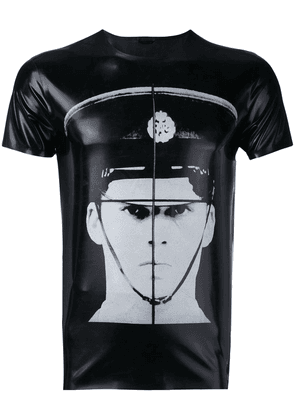 JW Anderson GILBERT & GEORGE POLICEMAN PRINT LATEX TOP - Black