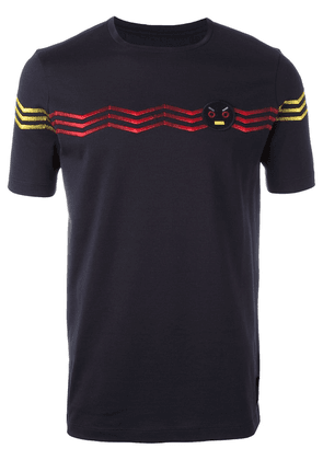 Fendi No Words embroidered T-shirt - Blue