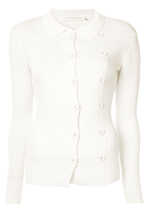 Christopher Esber double buttoned cardigan - White