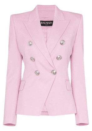 Balmain double-breasted blazer jacket - Pink