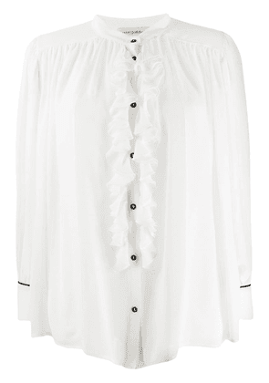 Gentry Portofino ruffled shirt - White