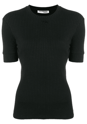 Courrèges ribbed top - Black