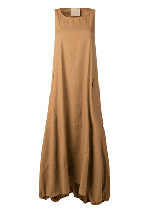 Erika Cavallini flared maxi dress - Brown