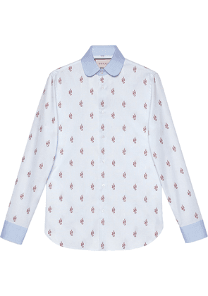 Gucci Kingsnakes fil coupé Oxford shirt - Blue