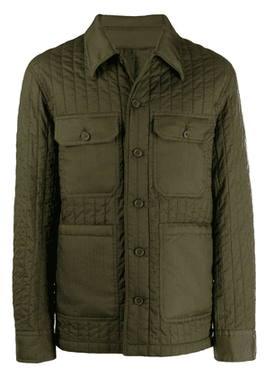 Helmut Lang fitted safari jacket - Green
