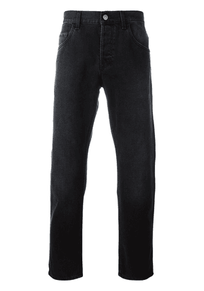 Gucci tapered jeans with panther - Black