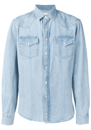 Brunello Cucinelli buttoned denim shirt - Blue