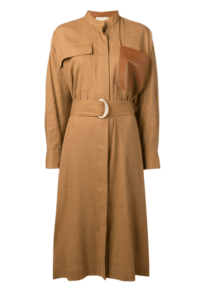 Erika Cavallini belted shirt dress - Brown