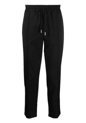 Billionaire drawstring tapered track pants - Black