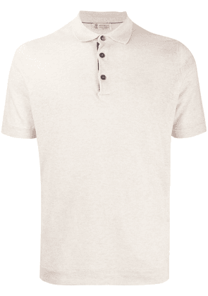 Brunello Cucinelli short sleeved polo shirt - Neutrals
