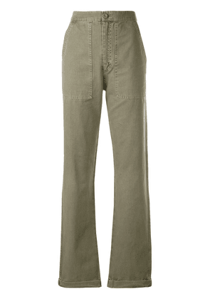Anine Bing Scout military trousers - Green