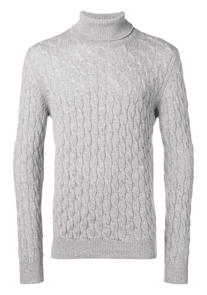 Eleventy cable knit turtleneck sweater - Grey
