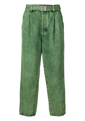 Doublet belted waist trousers - Green