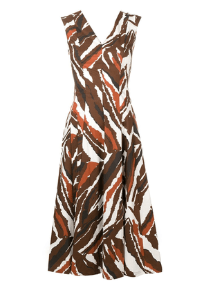 Erika Cavallini abstract print dress - Brown