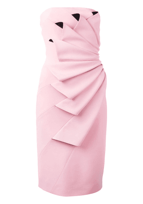 Capucci pleated strapless dress - Pink