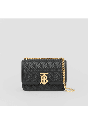 Burberry Small Quilted Monogram Lambskin TB Bag, Black