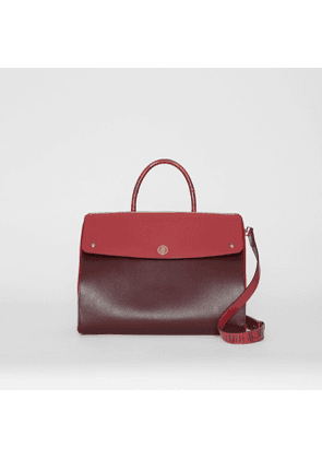 Burberry Medium Leather and Suede Elizabeth Bag, Red