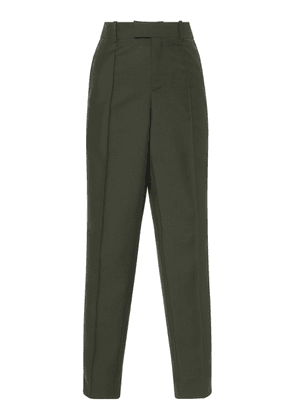 Bottega Veneta Cropped Cotton-Twill Straight-Leg Pants